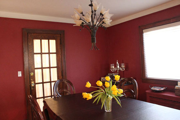 red dining room miriam stern color consulting