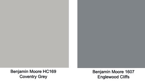 Gray wall paint living room - The Adjoining Eating Area Was Painted With Benjamin Moore Hc169